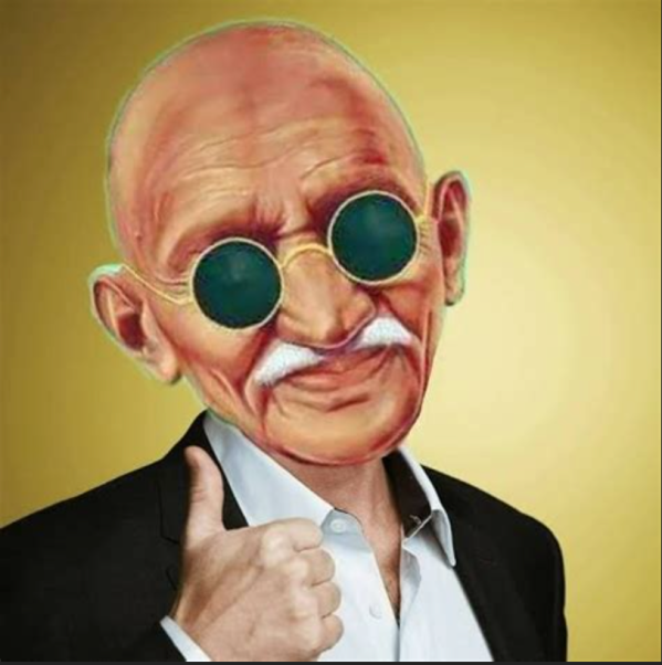 Ghandi-thumbs up
