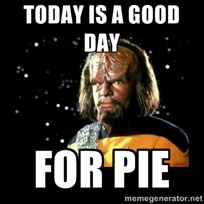 Good day for pie