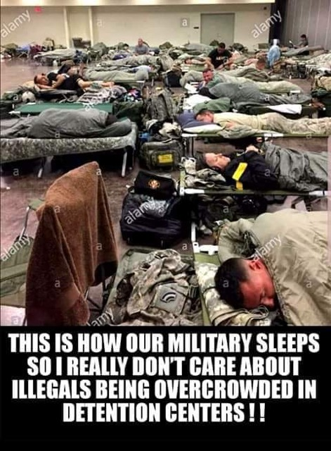 How our military sleeps
