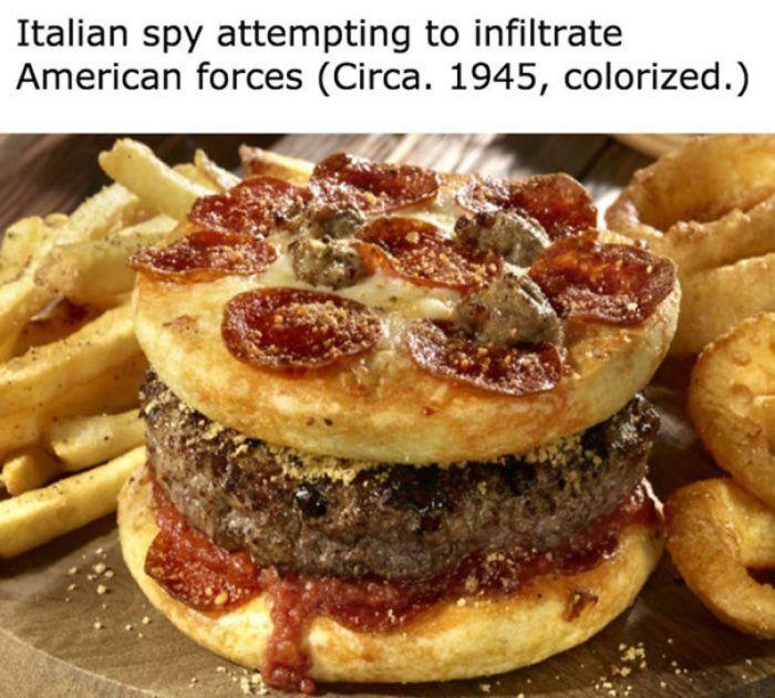 Italian spy burger