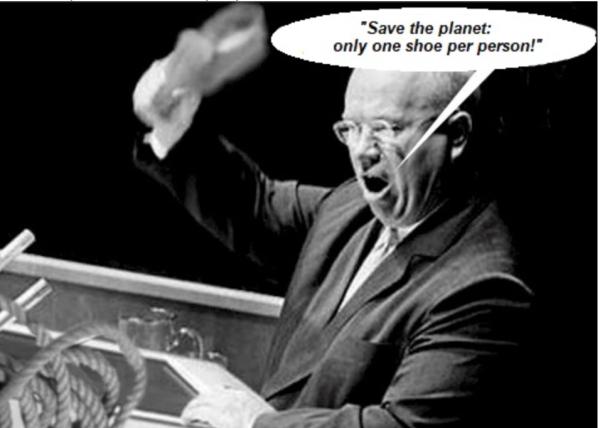 Krushchev-one shoe per person