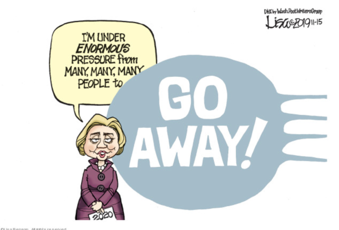 Old Hitlery-go away