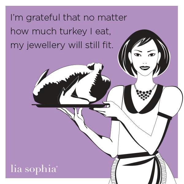 Over-eat Thanksgiving-Jewelry still fits