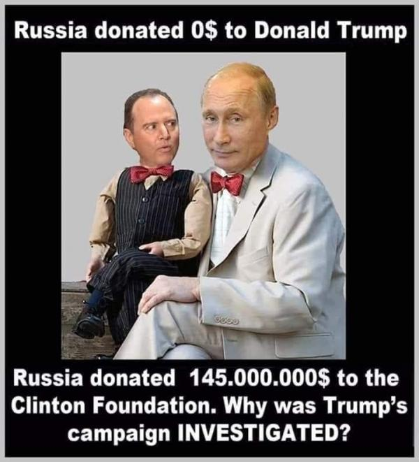 Russia-Clinton-Trump-Putin-Schiff for brains