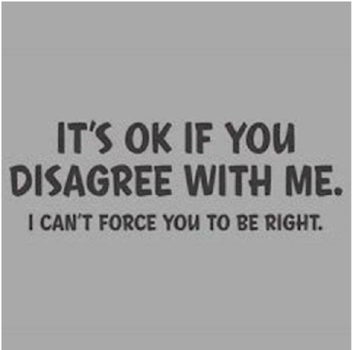 Snark-I can't force you to be right