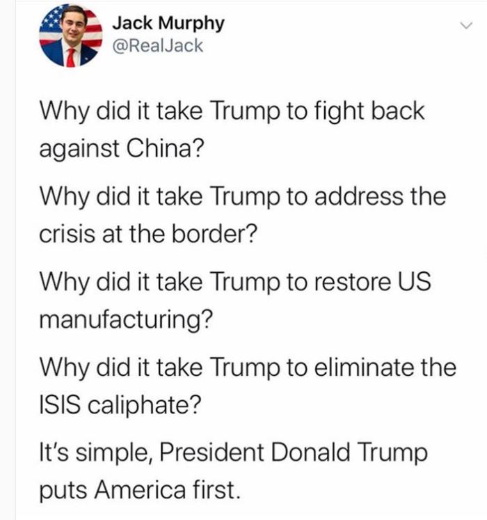 Trump-puts America first