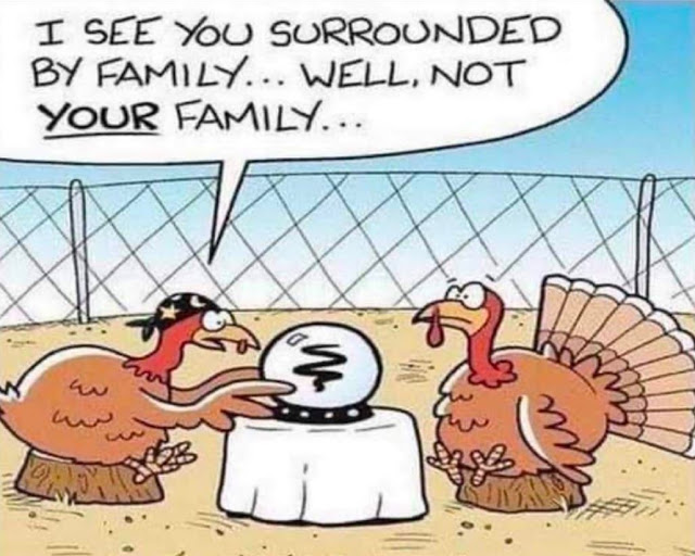 Turkey-surrounded by family