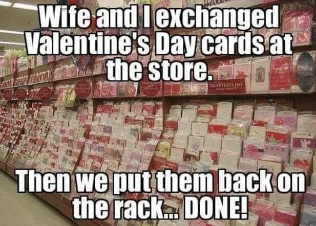 Valentines day card exchange