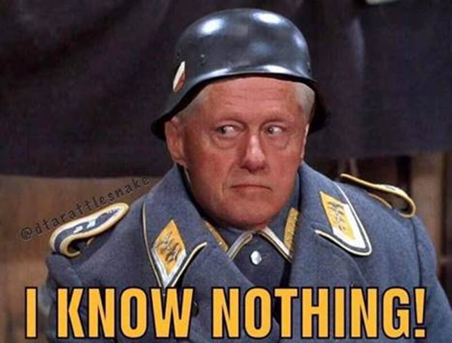 BJ-Sgt. Schultz-know nothing