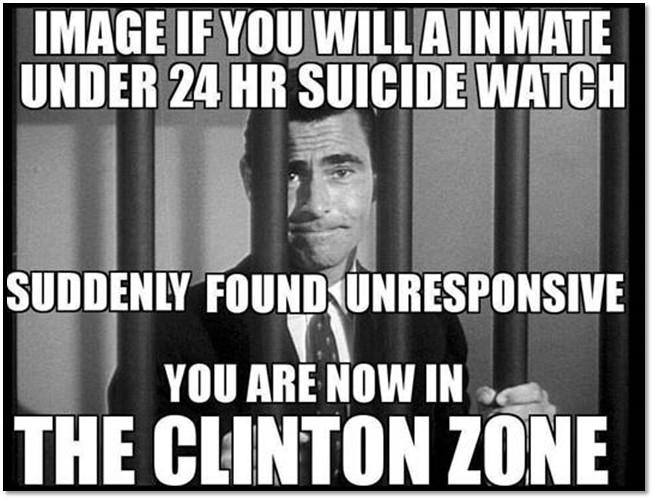 Clinton Zone-suicide watch
