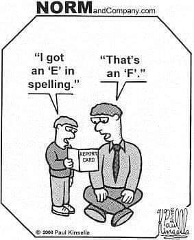 E in spelling