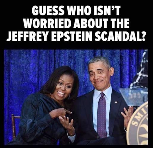 Epstein-Obamas not worried