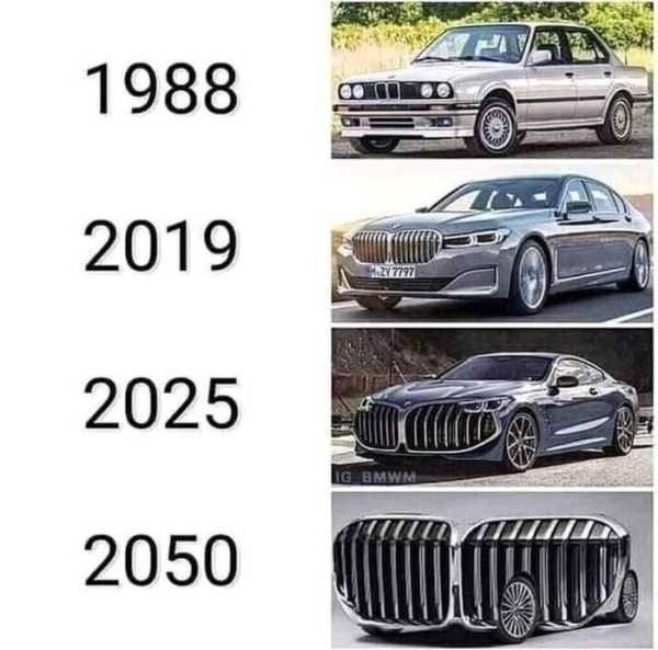 Evolution of the BMW kidney grille