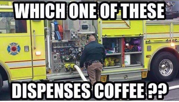Fire truck coffee dispenser