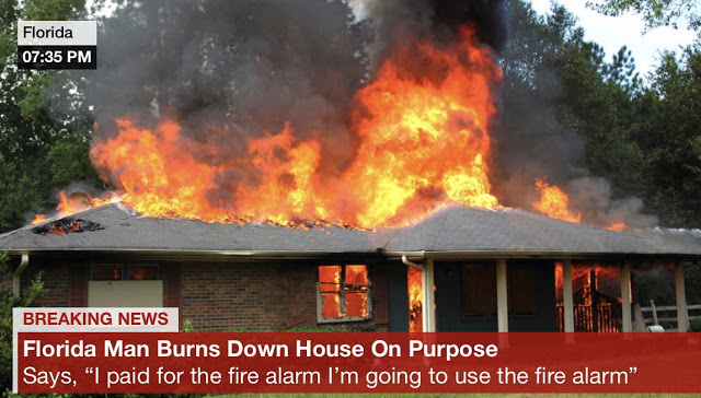 Floriduh man burns house down
