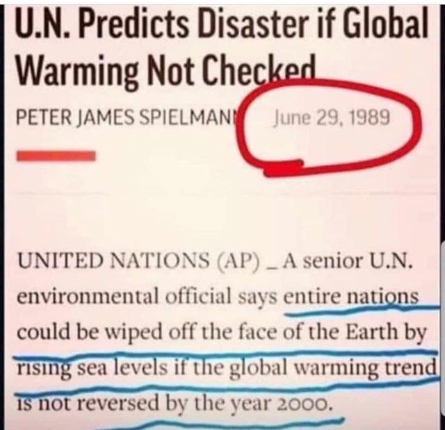 Global Warming 1989