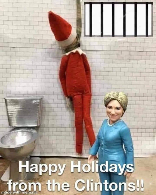 Happy holidays from the Clintons