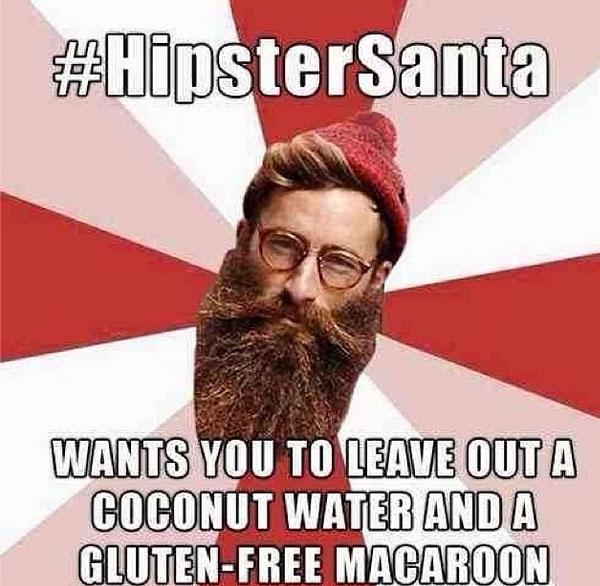 Hipster-Santa