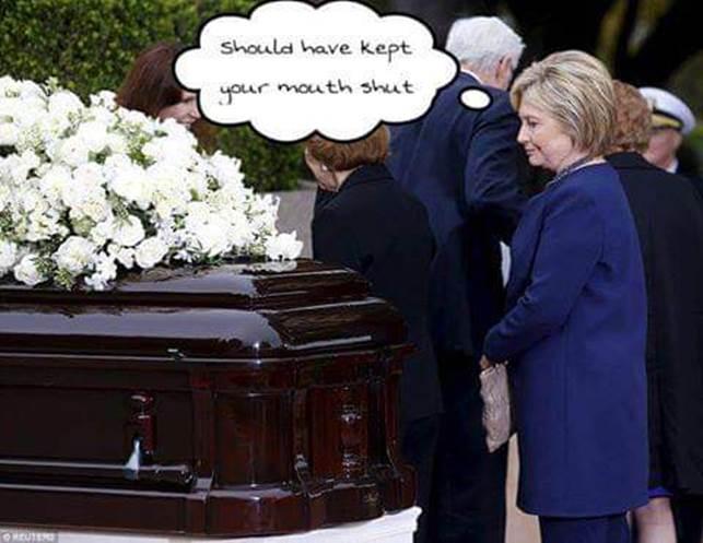 Hitlery-coffin-kept mouth shut