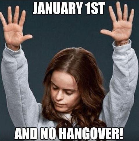 Jan 1 and no hangover