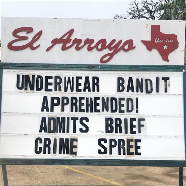 Underwear bandit