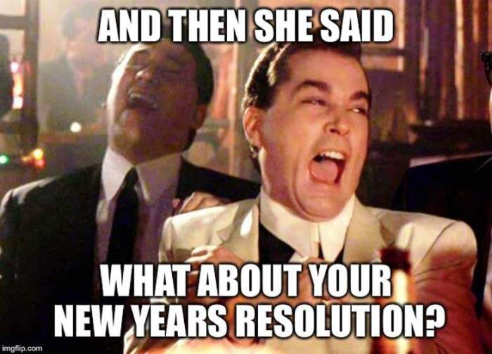 What about New Year Resolution
