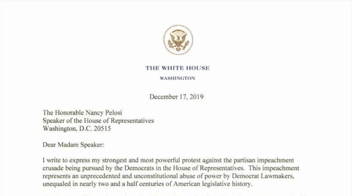 White House letterhead