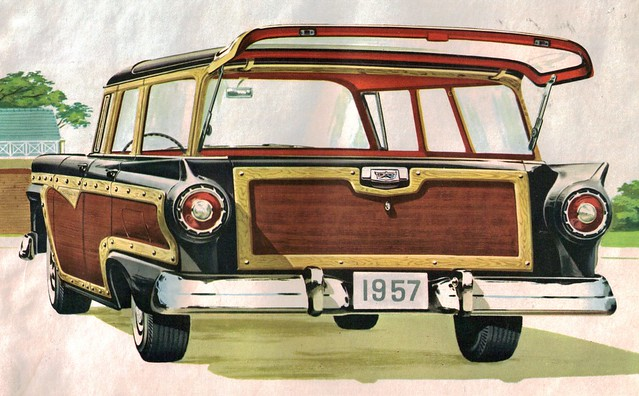 57 Ford Country Squire wagon