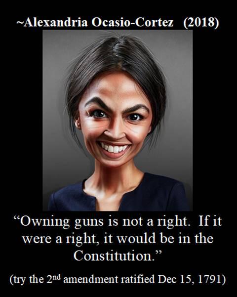 AOC on owning guns