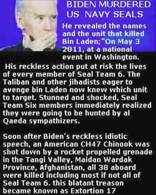 Biden murdered Navy SEALS