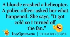 Blonde helicopter crash