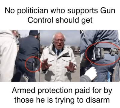 Commie Bernie-gun control