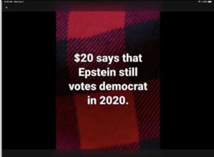 Epstein still votes DemocRAT