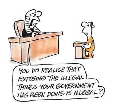 Exposing illegal things
