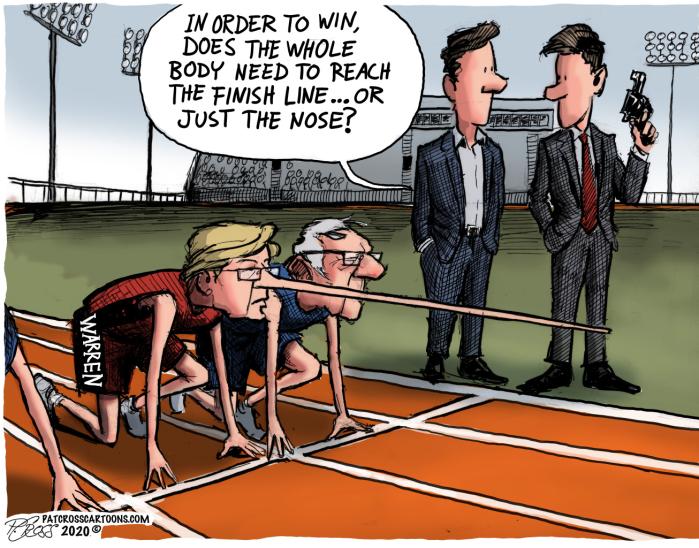Fauxchahontas vs Bernie-nose length