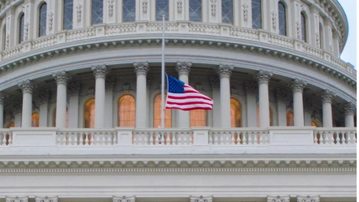 Flag-half staff at Capitol