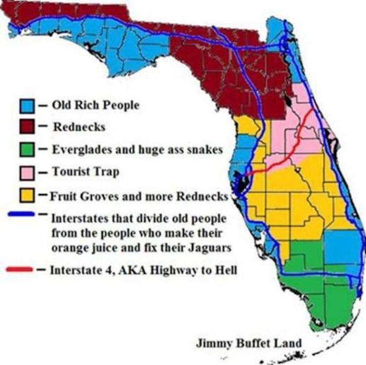 Floriduh-redneck map