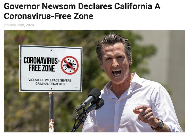 Gov. NewScum_CA_Coronavirus free zone