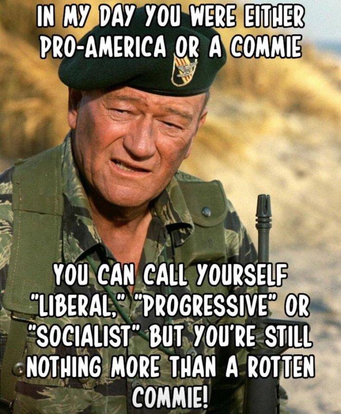 John Wayne on Libruls