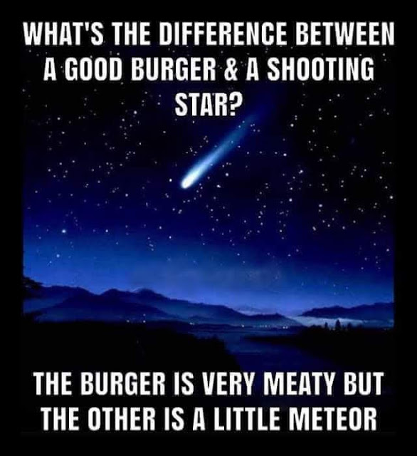 Know the difference:meteor