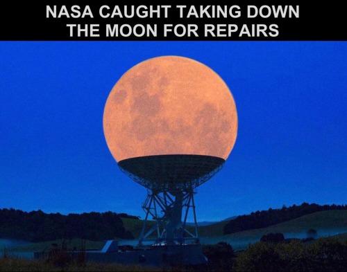 NASA taking moon down for repairs