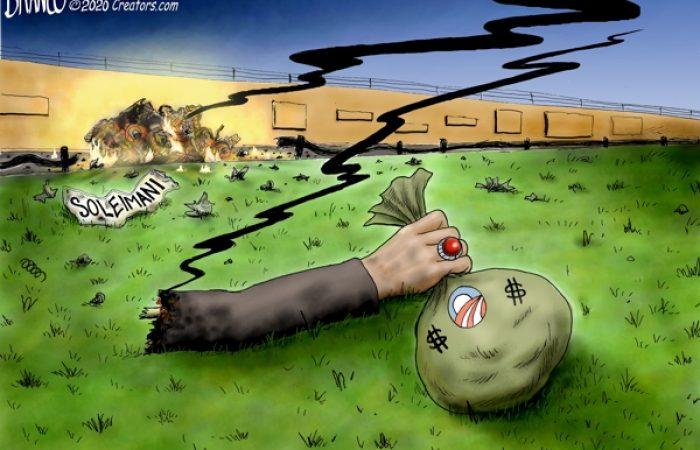 Obama cash Iranian roadkill