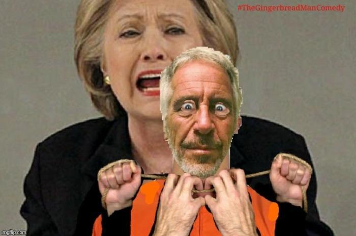 Old Hitlery strangling Epstein
