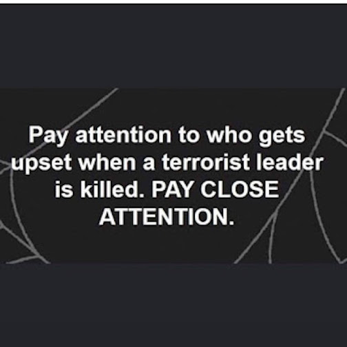 Pay attention when a terrorist leader is killed