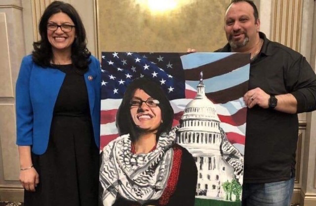 Rashida Tlaib-Islamic scarf on Capitol