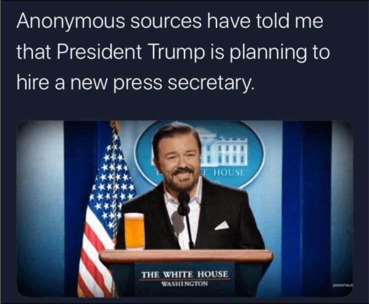 Ricky Gervais-Press Secretary
