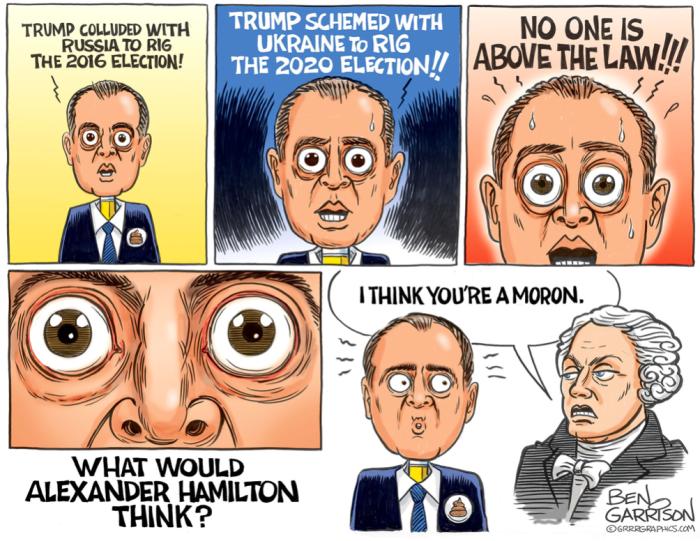 schiff for brains-moron