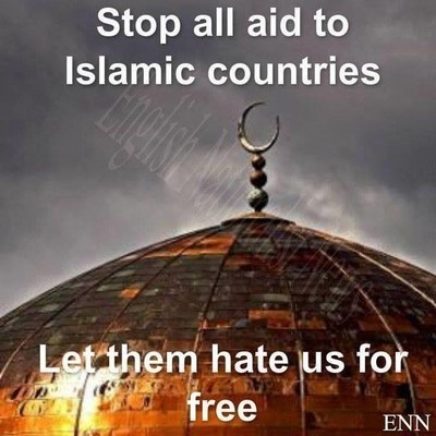 Stop aid to Islamic countries