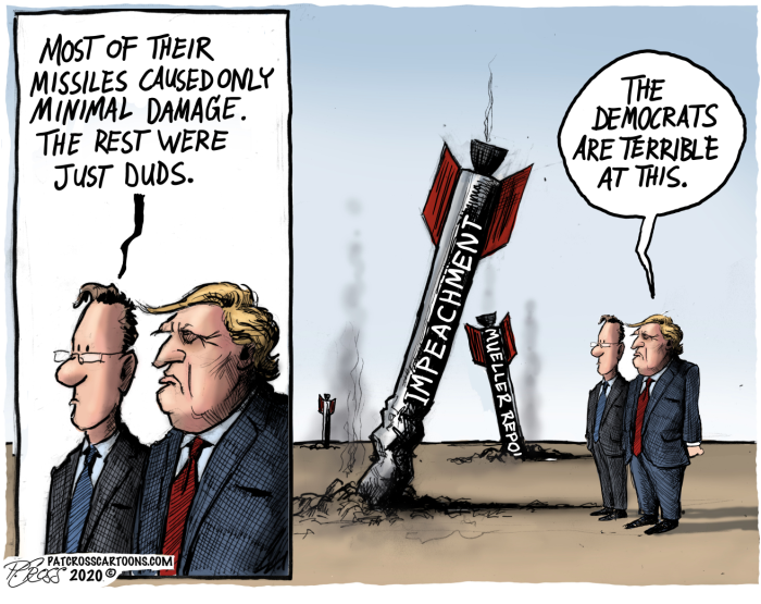Trump-DemocRATs-impeachment missle duds