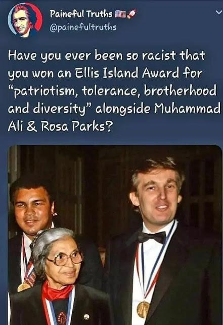 Trump-Rosa Parks-Muhammad Ali